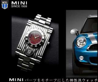 Japanese BMW Mini Cooper Watch MCA401119 Red New