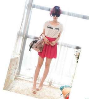 Korea Women chiffon patchwork mini dresses CML9262