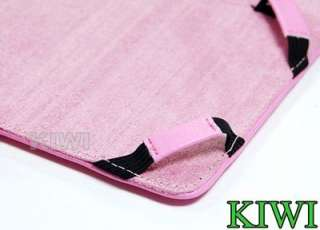Pink Leather Folio Carry Card Case For  Kindle Fire Tablet (2011