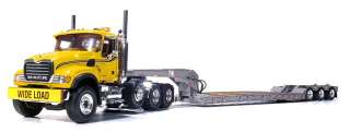 Mack Granite Tri Axle Lowboy Yellow Silver Truck Semi