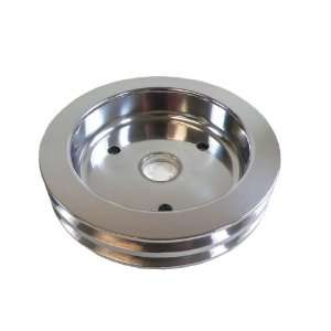 Racer Performance Chevy Big Block Polished Aluminum Crank Pulley   2
