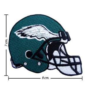 3pcs Philadelphia Eagles Helmet Logo Embroidered Iron on
