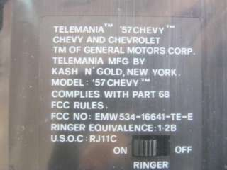TELEMANIA 57 CHEVY BEL AIR TELEPHONE BRAND NEW IN BOX ORIGINAL