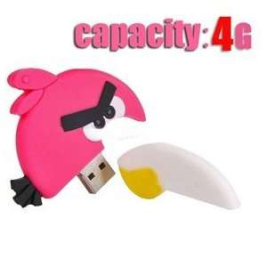 Cute 4GB Angry Birds USB Flash Drive Flash Memory U Disk