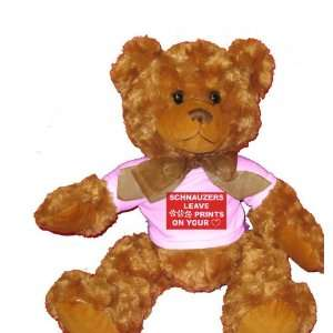 SCHNAUZERS LEAVE PAW PRINTS ON YOUR HEART Plush Teddy Bear