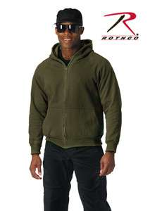Rothco Thick Heavy Thermal Lined Zipper Hooded Sweatshirt   Big & Tall