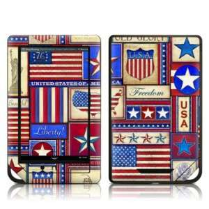 Flag Patchwork Design Protective Decal Skin Sticker for Barnes