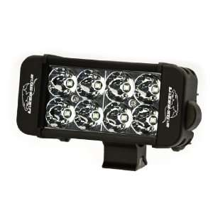 RS LX LED Black Finish 6 3W 8 LED Racer Special Double Row Spot Light