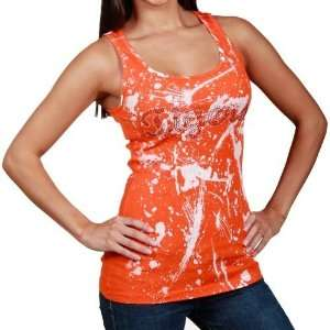 Ladies Burnt Orange Punk Rock Tank Top (X Large)
