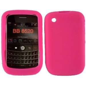 Hot Pink Silicone Jelly Skin Case Cover for Blackberry