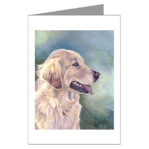 Lovely Golden Retrievers Greeting Cards Package o Pets Greeting Cards