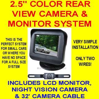 COLOR REAR VIEW BACKUP CAMERA SYSTEM REVERSE SAFETY 2.5