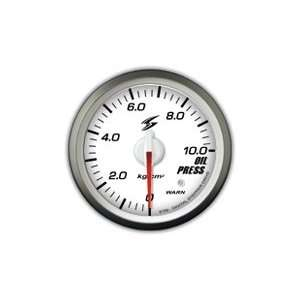STRI Racing DSD CS 60mm Oil Pressure Gauge White