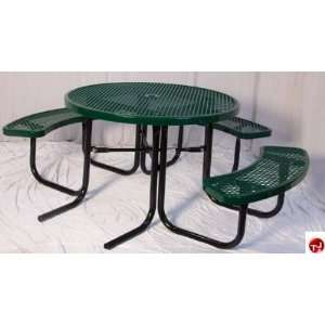 Midwest 358H RDV, 46 Round Outdoor Steel Picnic Table