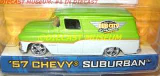57 CHEVY CHEVROLET SUBURBAN KUSTOMS DUB CITY DIECAST JADA VERY RARE
