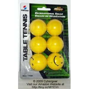Sportcraft Recreational Yellow Table Tennis Balls (Pack of 6)