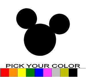 MICKEY MOUSE EARS 6 DECAL STICKER DISNEY MINNIE