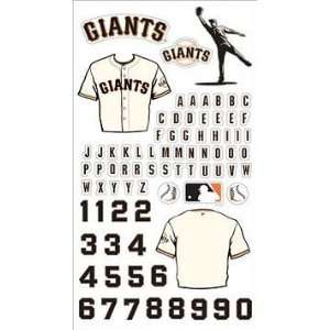 MLB San Francisco Giants Baseball Stickers Arts, Crafts