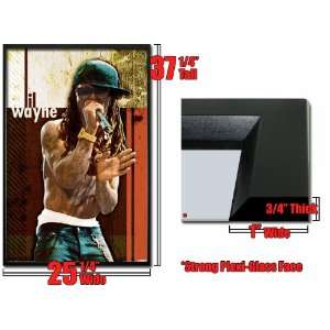 Framed Lil Wayne Poster Rapper No Shirt Hot Fr 24860