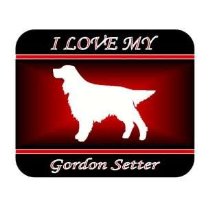 I Love My Gordon Setter Dog Mouse Pad   Red Design