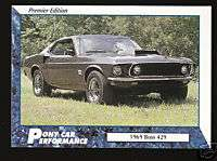1969 69 FORD MUSTANG BOSS 429 Pony Car Picture CARD