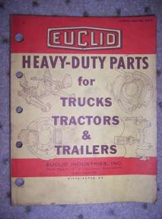 1973 Euclid Truck Tractor Trailer Parts Catalog Heavy H