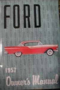 1957 Ford Full Size Owners Manual 57 Fairlane