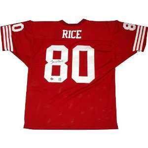 Jerry Rice Autographed Red Pro Style Jersey Sports