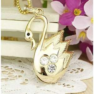 Swan Jewelry USB Flash Drive with Necklace(Golden) Electronics