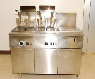 Frymaster 2 Bay Gas Fryer with Dump Station, Model FM245EUSC