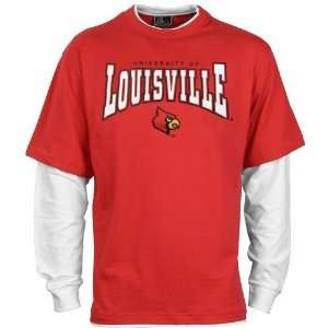 Louisville Cardinals Red Walk On Long Sleeve T shirt