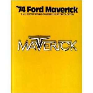 1974 FORD MAVERICK Sales Brochure Literature Book Piece