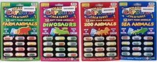 12 Foam Capsule Creatures Farm Sea Zoo Animals or Dinosaurs Watch the