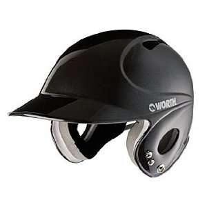 NEW WORTH LYPBH BLACK YOUTH LOW PROFILE BATTERS HELMET