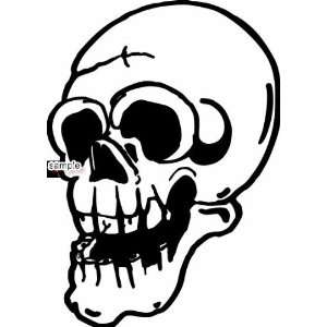 OLD MAN LAUGHING SKULL 10 WHITE VINYL DECAL STICKER