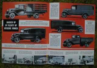 1934 Ford truck sales brochure 34 V 8 pickup