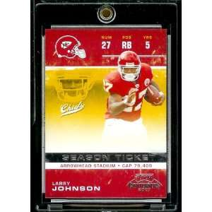 2007 Playoff Contenders # 50 Larry Johnson   Kansas City Chiefs   NFL
