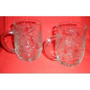Set of Two Princess House Fantasia Crystal Mugs Cups
