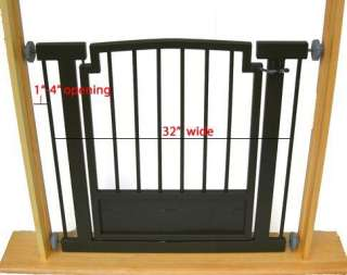 Indoor DOG GATE Safety pet fence METAL 32 H hallway or doorway