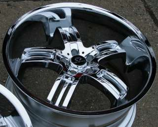 LORENZO WL026 22 CHROME RIMS WHEELS NISSAN MAXIMA STAGGERED