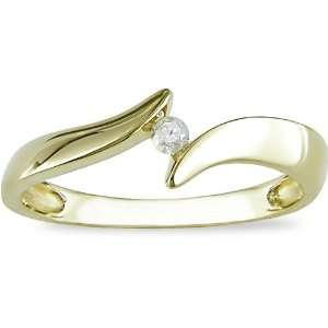 10K Yellow Gold Diamond Ring (I J, I2) Jewelry