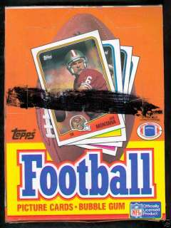 1988 Topps Football Wax Pack Box Joe Montana Jerry Rice