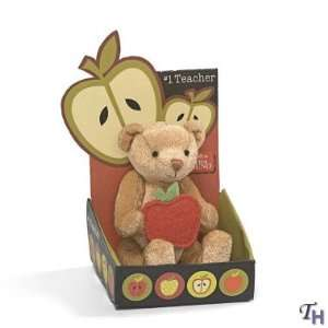 Teacher Mini Teddy Bear with Apple  Gift Card Holder Toys & Games