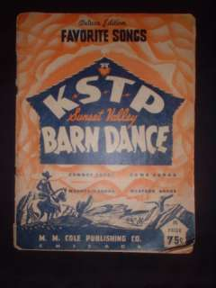 ANTIQUE KSTP RADIO SUNSET VALLEY BARN DANCE SONG BOOK