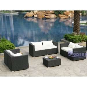 Set of 3 White Loveseats and 1 Coffee Table Patio, Lawn & Garden