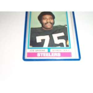 Joe Greene 1974 topps football trading card #40 Pittsburgh Steelers