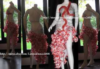 LATIN SALSA BALLROOM COMPETITION DRESS M100