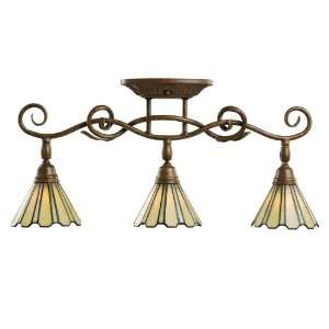 Kichler Lighting 7702TZG Three Light Fixed Rail, Tannery Bronze with