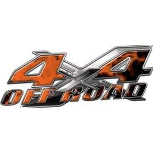Full Color 4x4 Offroad Truck Decals in Inferno Orange