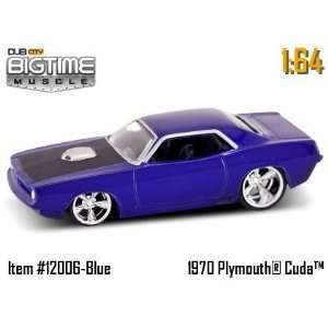 Jada Big Time Muscle 70 Plymouth Cuda Blue 164 Car Toys & Games